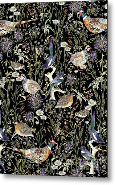 Woodland Edge Birds Metal Print