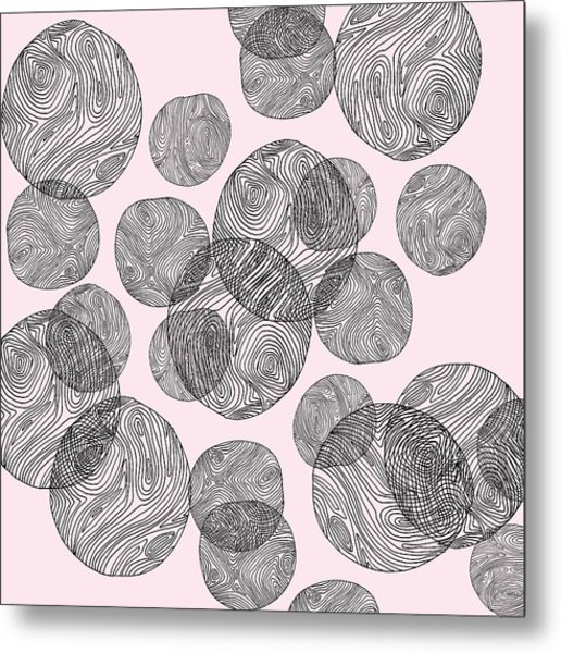 Woodprint Pattern Metal Print