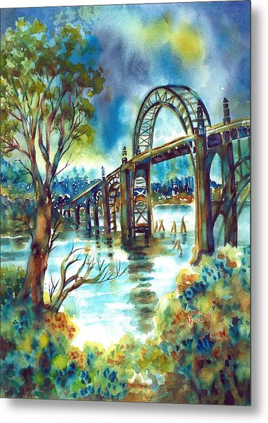Yaquina Bay Bridge Metal Print