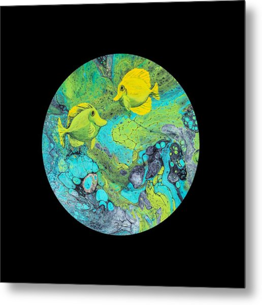 Metal Print featuring the painting Yellow Tang by Darice Machel McGuire