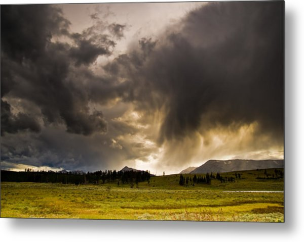Yellowstone Sky Metal Print by Patrick  Flynn
