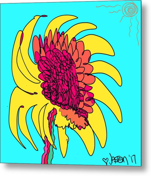 Yes. This Is A Flower, Child Metal Print