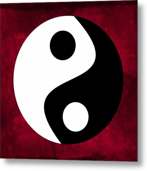 Metal Print featuring the digital art Yin And Yang by Marianna Mills