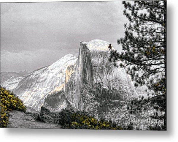 Yosemite Half Dome Metal Print