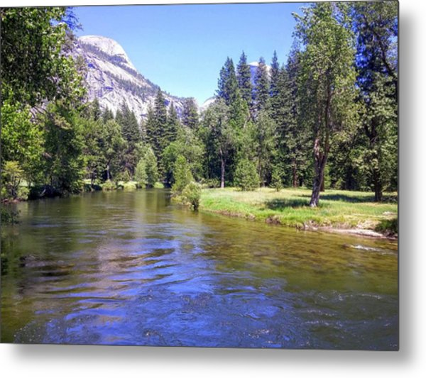 Yosemite Lazy River Metal Print