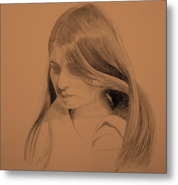 Young Woman Metal Print by Susan Tilley