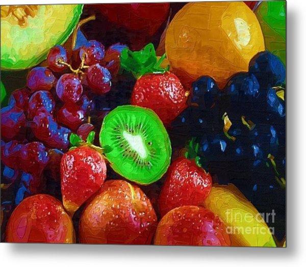 Yummy Fresh Fruit Metal Print by Deborah Selib-Haig DMacq