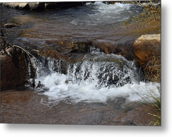 Waterfall Westcliffe Co Metal Print