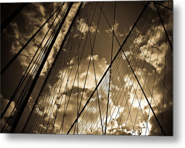 Brooklyn Bridge Metal Print by Patrick  Flynn