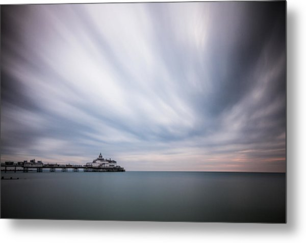 10 Minute Exposure Of Eastbourne Pier Metal Print