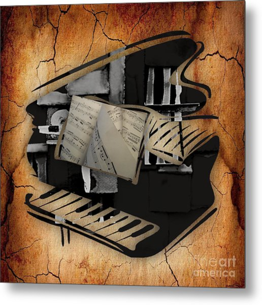 Piano Collection Metal Print