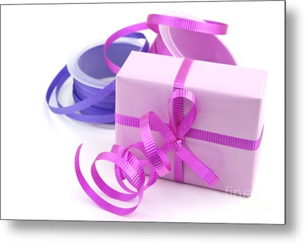 Pink Gift Metal Print by Blink Images