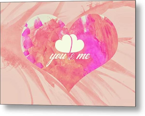 10183 You And Me Metal Print
