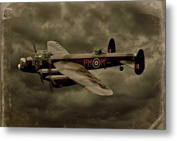 103 Squadron Avro Lancaster Metal Print