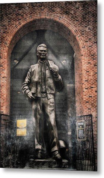 10726 Kinnick Statue Metal Print