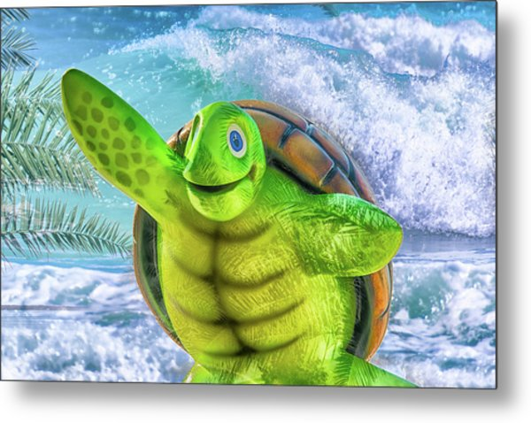 10731 Myrtle The Turtle Metal Print