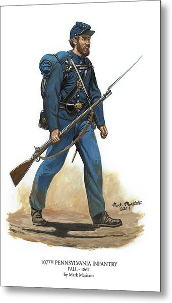 107th Pennsylvania Infantry Regiment - Fall Of 1862 Metal Print by Mark Maritato