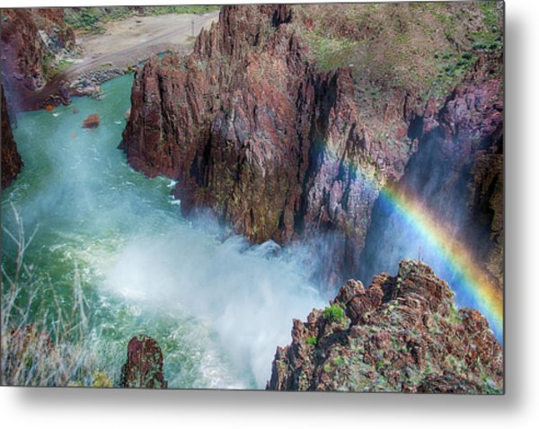 10883 Rainbow Over Owyhee Metal Print