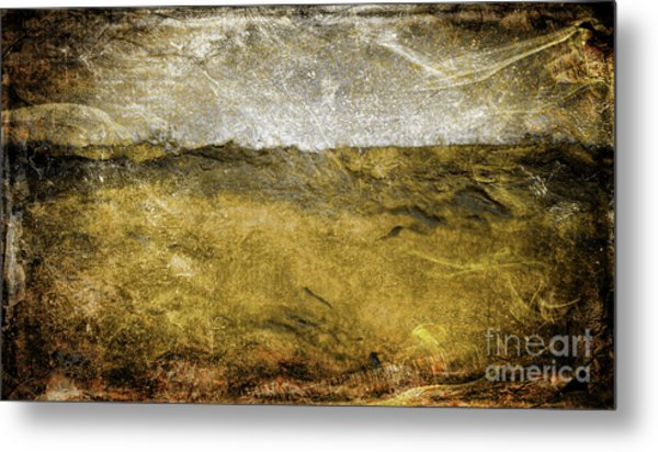 10b Abstract Expressionism Digital Painting Metal Print