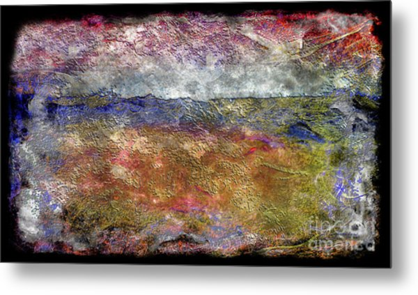 10c Abstract Expressionism Digital Painting Metal Print
