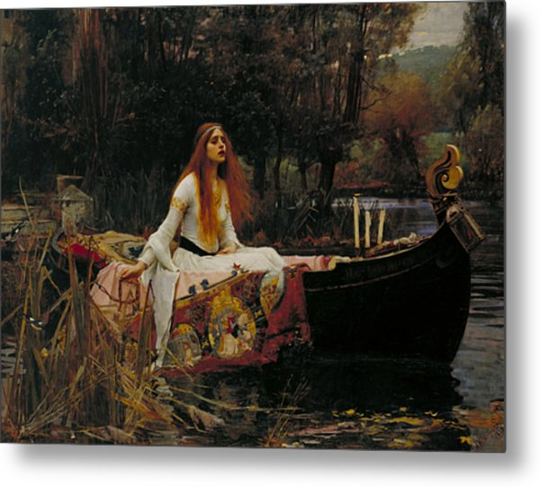 The Lady Of Shalott Metal Print
