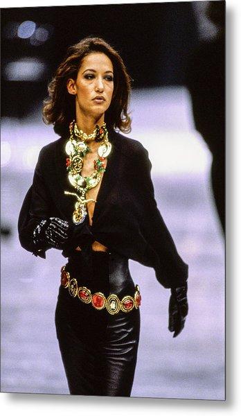 Versace Fall 1991 Rtw Show Metal Print by Guy Marineau