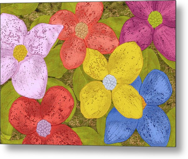 Simple Flowers Metal Print