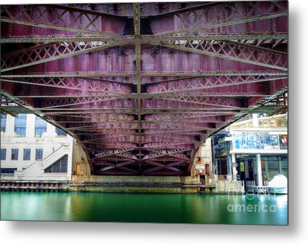 1136 Under The Dearborn Street Bridge Metal Print