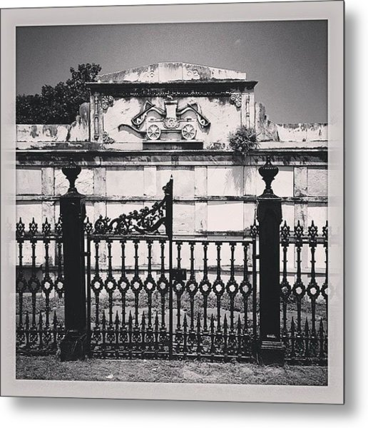 Cemetery Gate With Tree Metal Print