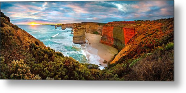 12 Apostle Sunset Metal Print