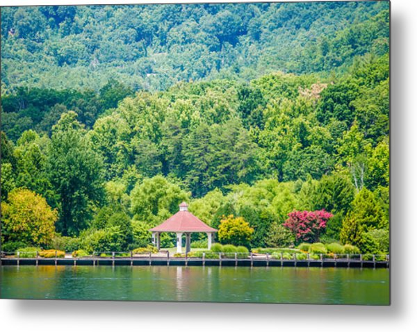 Metal Print featuring the photograph Scenery Around Lake Lure North Carolina by Alex Grichenko
