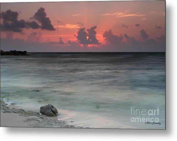 Sea Scape Sunrise Metal Print