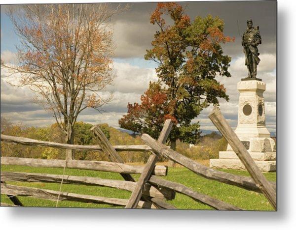 124th Pennsylvania Infantry Monument Metal Print