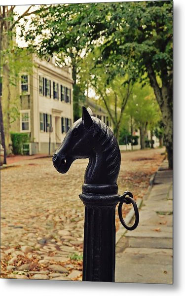 Nantucket Hitching Post Metal Print by JAMART Photography