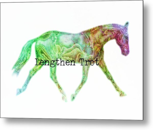 Lengthen Trot Watercolor Quote Metal Print by JAMART Photography