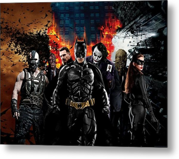 The Dark Knight Rises 2012  Metal Print