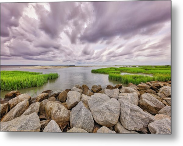 Seascape Of Hilton Head Island Metal Print
