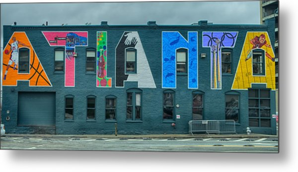 Metal Print featuring the photograph Atlanta Downtown Skyline Scenes In January On Cloudy Day by Alex Grichenko