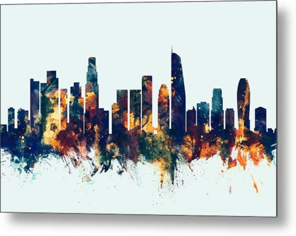 Los Angeles California Skyline Metal Print