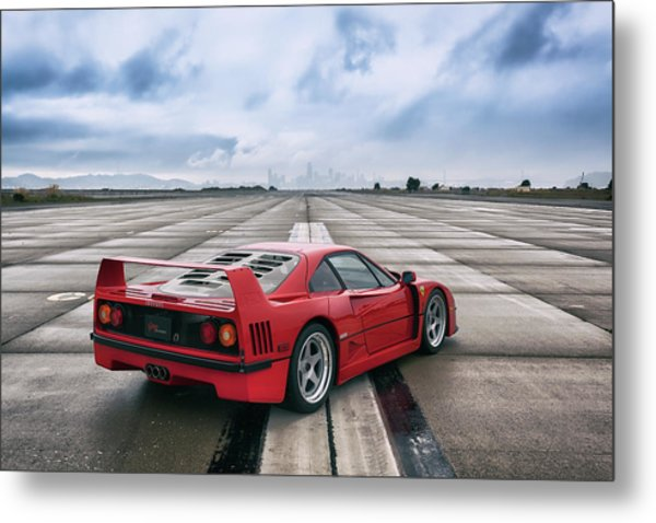 Metal Print featuring the photograph #ferrari #f40 #print by ItzKirb Photography