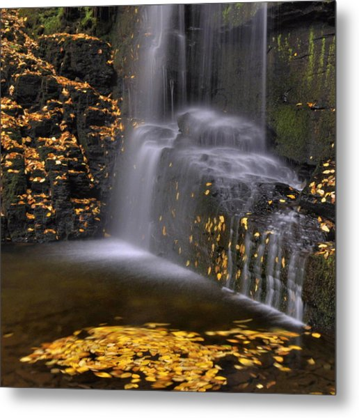 Waterfall Detail Metal Print