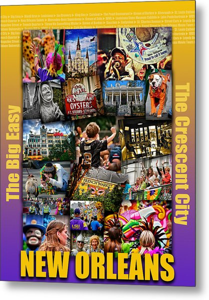 16x20 New Orleans Poster Metal Print