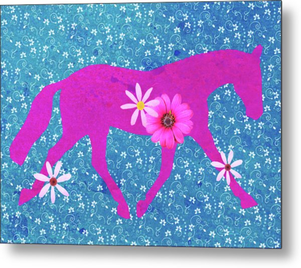 Spring Lengthen Trot  Metal Print by JAMART Photography