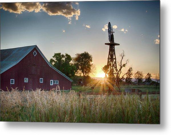 17 Mile House Farm - Sunset Metal Print