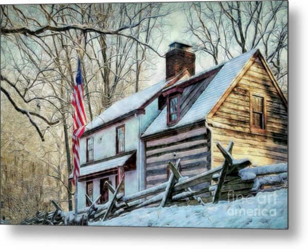 1700's Log House In West Chester, Pa Metal Print