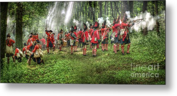 1763 Battle Of Bushy Run Pennsylvania Metal Print by Randy Steele