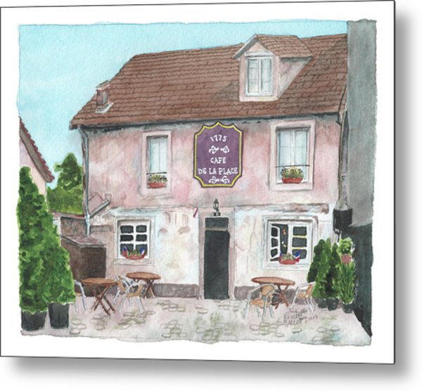 1775 Cafe De La Place Metal Print