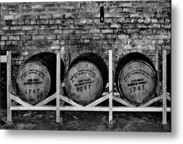 1787 Whiskey Barrels Metal Print