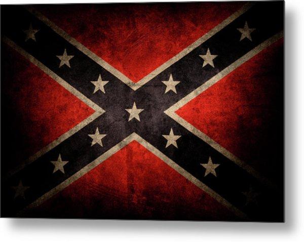 Confederate Flag 7 Metal Print