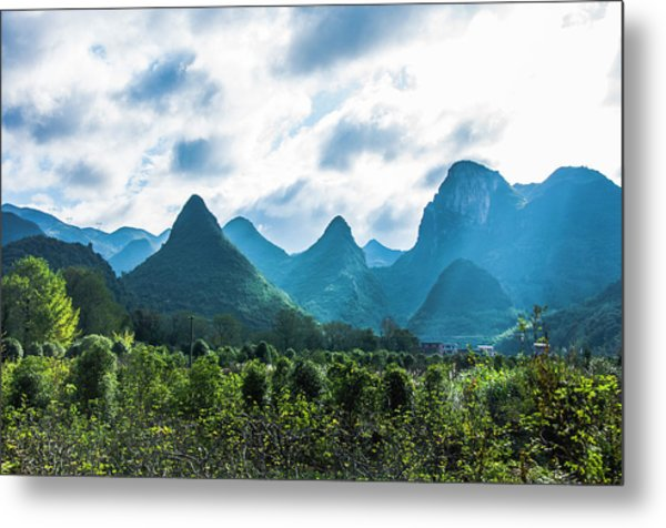 Countryside Scenery In Autumn Metal Print